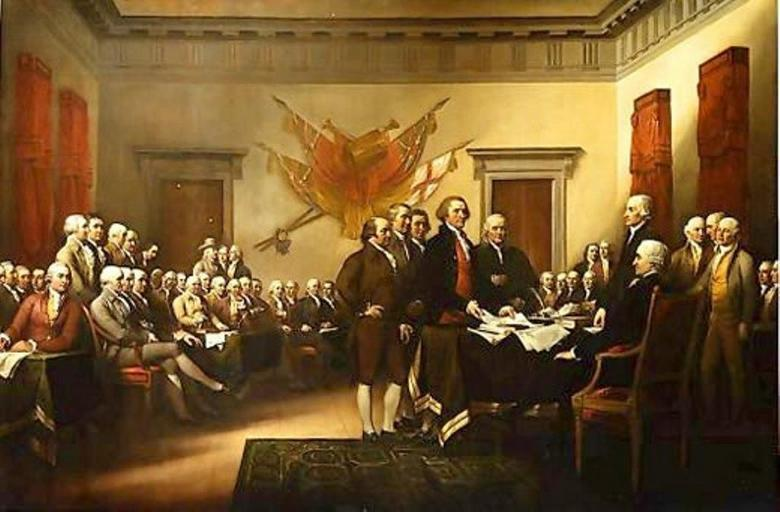John Trumbull declarat... of independence